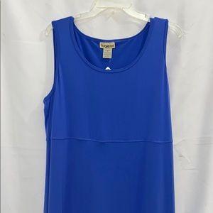Travel Smith   Blue Sleeveless Maxi Dress